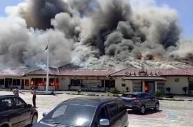 Mapolres Lampung Selatan Terbakar, Ruang Utama Dilalap…