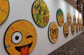 Emoticon Tiga Dimensi di Pameran Art Momen