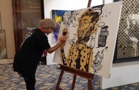 Live Painting dari Seniman Oky Rey Montha Tarik Perhatian Pengunjung Art Moment
