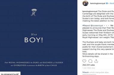 Tokoh Dunia Sambut Kelahiran Putra Pertama Meghan Markle-Pangeran Harry