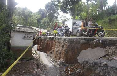 Pergeseran Tanah di Sukabumi  Kian Parah