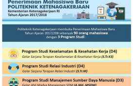 Politeknik Ketenagakerjaan Buka Penerimaan Mahasiswa Baru, Pendaftaran hingga 18 Mei