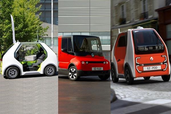 Renault ZOE Cab, Renault EZ/FLEX, dan Renault EZ/POD. foto: Renault