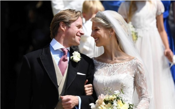 Pernikahan Lady Gabriella Windsor and Thomas Kingston di Kapel St George.  Sumber: Reuters