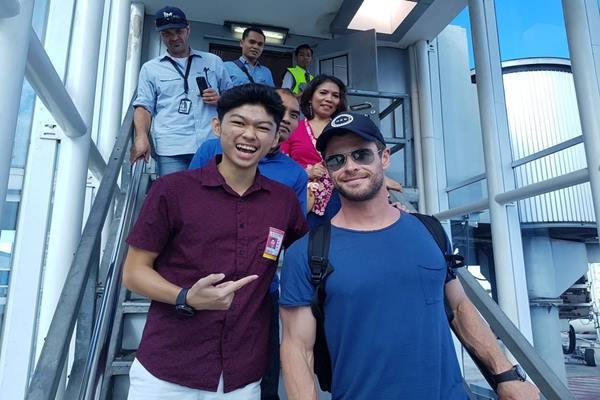 Chris Hemsworth pemeran Dewa Petir, Thor di film Avengers: Endgame mengunjungi Bali. - Instagram @sathyadjatmiko