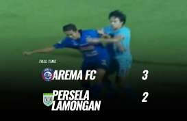 Liga 1: Arema FC vs Persela Skor 3-2, Arema FC Raih Poin Perdana