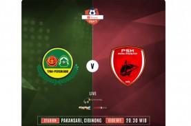 Liga 1: Duel Tira Persikabo vs PSM Makassar Skor Akhir…