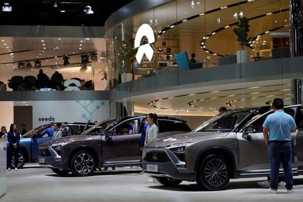 Mobil listrik NIO ES8 di Shanghai, China  - REUTERS