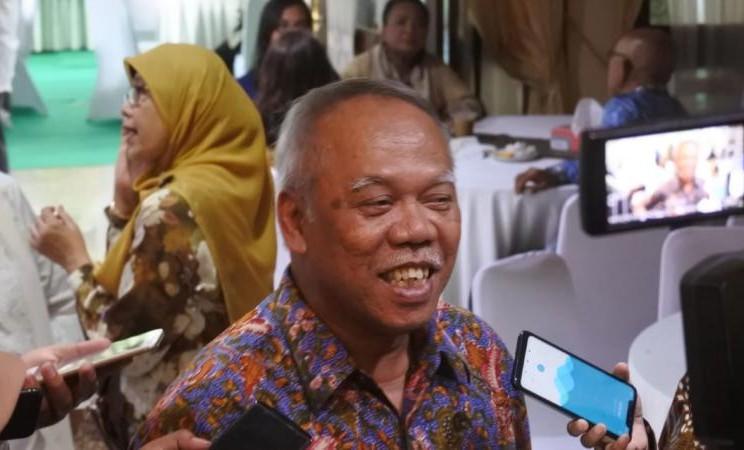 Menteri PUPR Basoeki Hadimoeljono saat bersilaturahmi ke rumah dinas Menko Perekonomian, Darmin Nasution Rabu (5/6/2019). - Bisnis/Anitana Widya