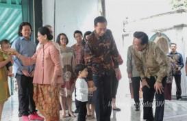 Lebaran Idulfitri : Presiden Jokowi Bersama Istri dan Cucu Menemui Sultan HB X