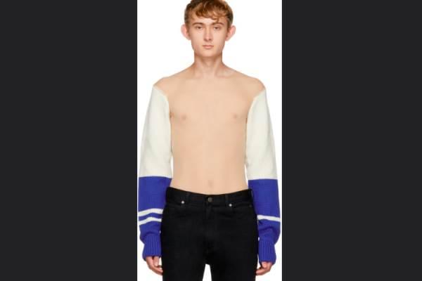 Sweater tembus pandang Calvin Klein - twitter@country