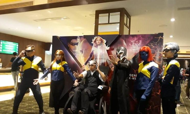 Cosplay pemain film X-Men: Dark Phoenix di Senayan City, Jakarta Selatan pada Selasa (11/6/2019). JIBI/Bisnis - Ria Theresia Situmorang