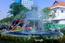 Proyek Alun-Alun Surabaya : Sebagian Jalan Yos Sudarso…