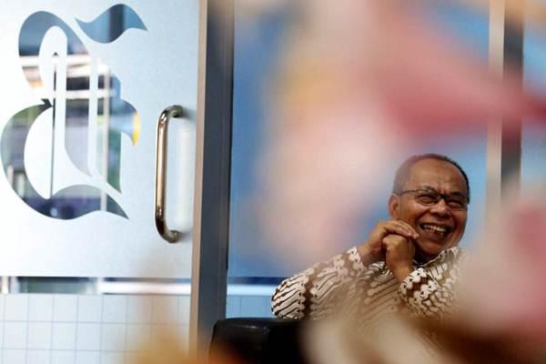 Direktur Utama PT Jasa Armada Indonesia Dawam Atmosudiro mengunjungi kantor redaksi Bisnis Indonesia, Senin (20/11). - JIBI/Nurul Hidayat