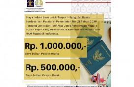 Paspor Anda Hilang? Ingat, Biaya Denda Naik Jadi Rp1 Juta