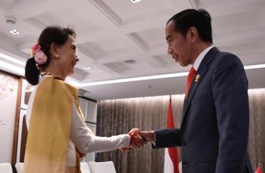 Bertemu Aung San Suu Kyi, Jokowi Tekankan Pentingnya Keamanan di Rakhine State