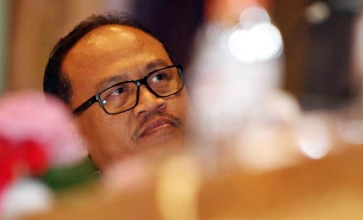 Direktur Utama PT Waskita Beton Precast Tbk Jarot Subana, menjawab pertanyaan wartawan usai rapat umum pemegang saham tahunan perseroan, di Jakarta, Rabu (24/4/2019). - Bisnis/Endang Muchtar