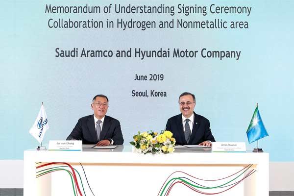 Hyundai Motor dan Saudi Aramco akan berkolaborasi dalam bidang hidrogen, material non/logam canggih dan teknologi masa depan. foto HYUNDAI