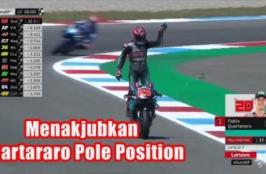 MotoGP Belanda: Quartaro Pole Position, Marquez Posisi 4, Rossi 14