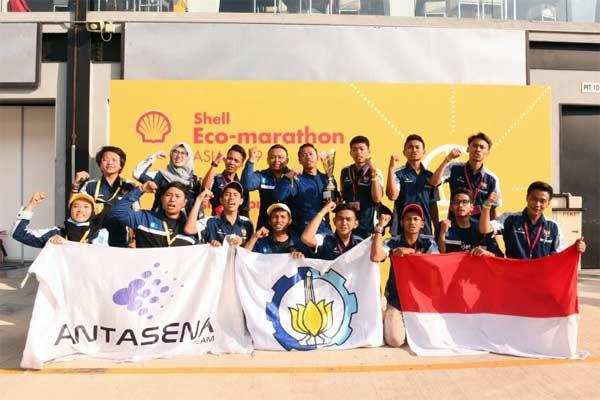 Tim 5 (Antasena) dari Institut Teknologi Sepuluh November. - Foto Shell