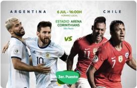 Copa America: Argentina Tekuk Chile 2-1, Raih Juara 3, Messi Kartu Merah. Ini Videonya