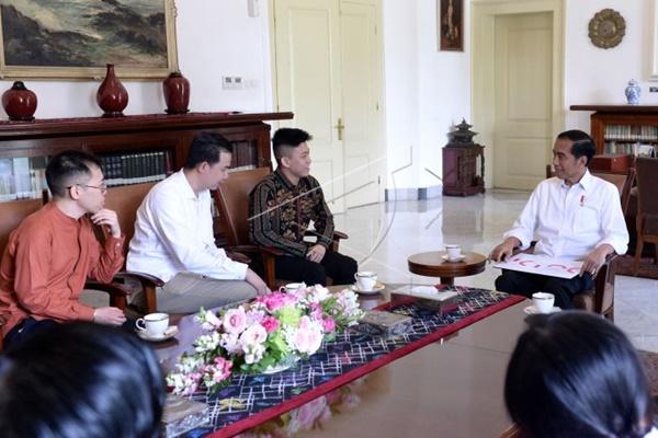 Brian Rich saat bertemu Jokowi - Antara