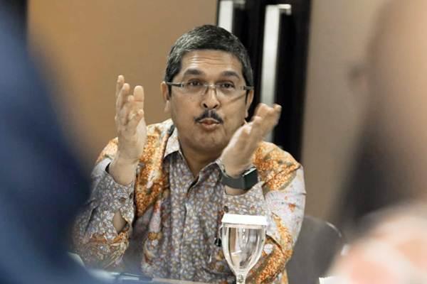 Presiden Direktur PT Envy Technologies Indonesia (EnvyTech) Mohd Sopiyan memberikan paparan saat berkunjung ke Wisma Bisnis Indonesia di Jakarta, Kamis (4/10/2018). - JIBI/Felix Jody Kinarwan