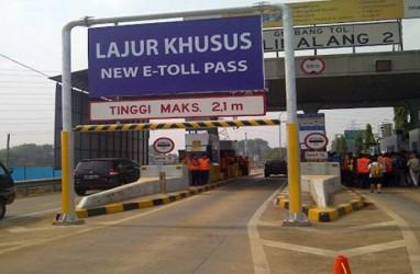 Dishub Bekasi Pasang Portal Penghalau Truk di Jalan Akses Tol Cikampek di Kalimalang