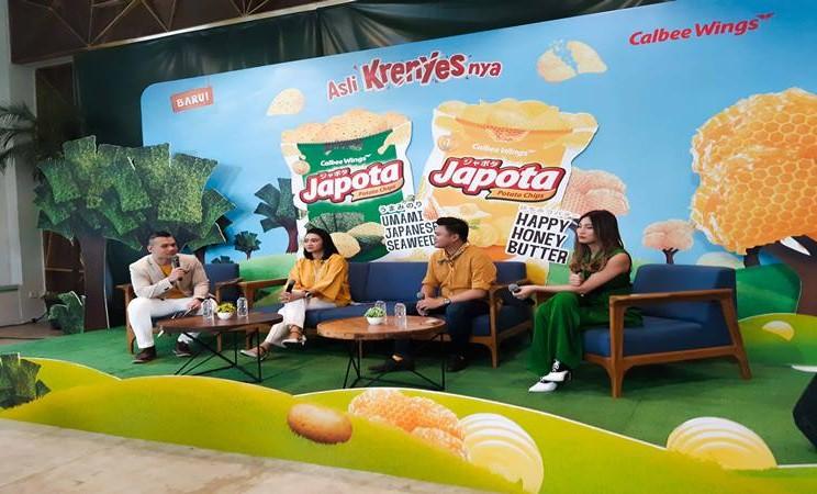 Peluncuran makanan ringan Japota dari Calbee Wings Food di Jakarta, Kamis (11/7/2019). JIBI/Bisnis - Tika Anggreni Purba