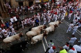 Hari Kelima Festival Lari Banteng San Fermin, 7 Peserta…