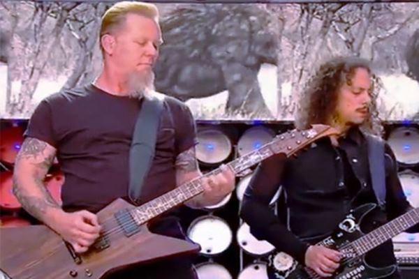 Salah satu penampilan Metalica dalam konser - Reuters