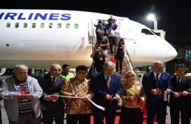Turkish Airlines Mendarat Perdana di Ngurah Rai