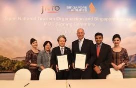 Jepang Gandeng Singapore Airlines Dongkrak Kunjungan Turis dari 5 Negara