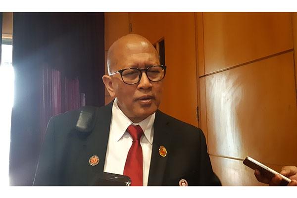 Ketua Yayasan Kanker Indonesia, Prof Dr dr Aru Wisaksono Sudoyo, di Hotel JW Marriot pada Jumat (19/7/2019) - Ria Theresia Situmorang