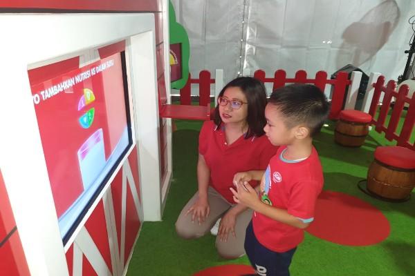 Anak tengah bermain di taman SGM - Istimewa