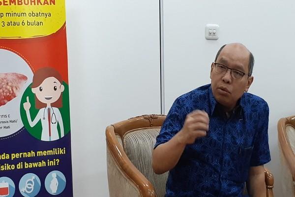 Dr. dr. Andri Sanityoso Sulaiman Sp.PD KGEH dari Perhimpunan Peneliti Hati Indonesia di Gedung Kemenkes, Jakarta Selatan pada Senin(22/7/2019) - Ria Theresia Situmorang
