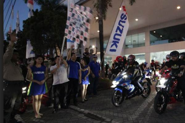 Pelaksanaan Suzuki Saturday Night Ride di Makassar - istimewa