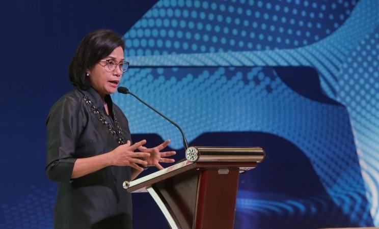 Menteri Keuangan Sri Mulyani Indrawati menjadi keynote speaker dalam The 14th Gaikindo International Automotive Conference di ICE BSD, Tangerang, Banten, Rabu (24/7/2019) - Bisnis/Felix Jody Kinarwan