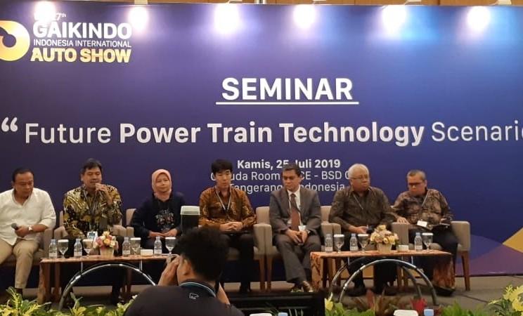 Seminar bertajuk Future Power Train Technology Scenario digelar di GIIAS 2019, Tangerang, Kamis (25/7/2019). - Bisnis/Aprianus Doni Tolok