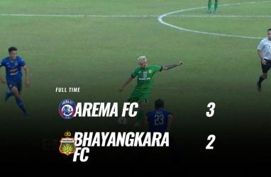 Live Streaming Arema FC vs Bhayangkara FC 3-2, Arema Melejit ke Posisi 5