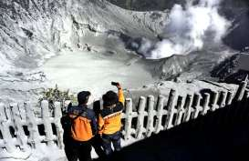 Gunung Tangkuban Parahu Erupsi: BPBD Jabar Gelar Piket Siaga