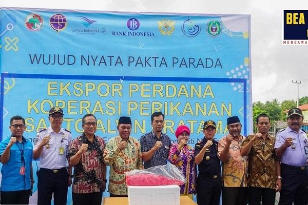 Bea Cukai Ternate Fasilitasi Ekspor Perdana Komoditi Ikan Tuna