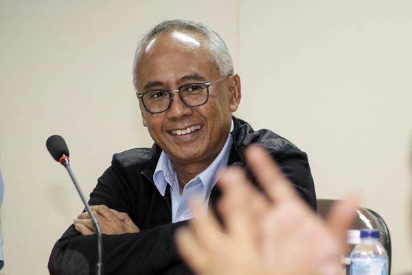 Direktur Utama PT Pembangunan Jaya Ancol, Tbk. Paul Tehusijarana saat berkunjung ke Wisma Bisnis Indonesia, di Jakarta, Rabu (18/10). - JIBI/Felix Jody Kinarwan