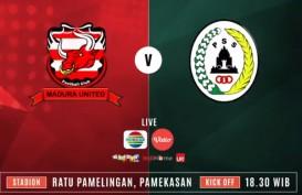 Madura United vs PSS Sleman 0-1, Madura United Terpaku di Posisi 3. Ini Videonya