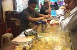 Aktivitas Jual Beli Emas di Banjarmasin Ramai