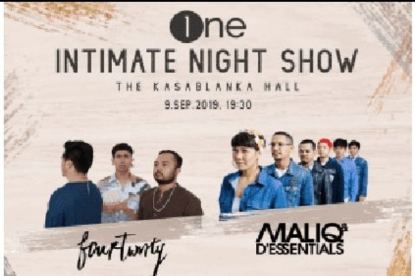 Poster One Intimate Night Show With Fourtwnty & Maliq & D'essentials - Dokumentasi istimewa Optimus One