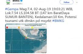 Gempa 7,4 SR Guncang Banten, MRT Jakarta Sempat Berhenti Beroperasi