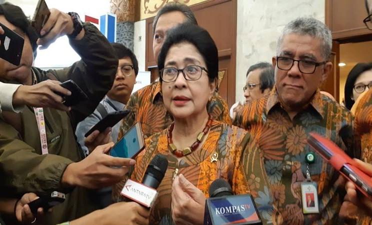 Menteri Kesehatan Nila F. Moelek saat ditemui di JCC, Senayan, Jakarta Pusat pada Senin (5/8/2019). JIBI/Bisnis - Ria Theresia Situmorang