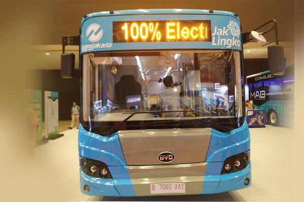 Bus Listrik BYD Bakrie.  - BISNIS.COM