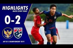 AFF U15: Thailand Tekuk Indonesia 2-0, Kontra Malaysia…